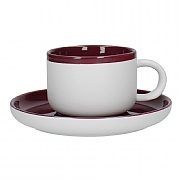 La Cafetiere Barcelona 290ml Tea Cup & Saucer - Plum