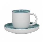 La Cafetiere Barcelona 300ml Coffee Cup & Saucer - Retro Blue