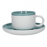 La Cafetiere Barcelona 290ml Tea Cup & Saucer - Retro Blue