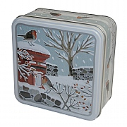 Grandma Wild's Robins in Winter Biscuits in Embossed Tin 200g