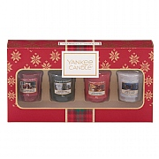 Yankee Candle 4 Votive Candle Christmas Gift Set