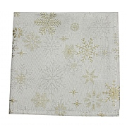 Peggy Wilkins Snow Crystal Champagne Christmas Napkin - Pack of 4