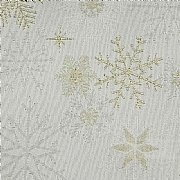 "Peggy Wilkins Snow Crystal Champagne Christmas Tablecloth 67""x 100"""