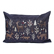 Peggy Wilkins Woodland Way Pewter & Copper Christmas Complete Cushion