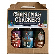 Cottage Delight Christmas Crackers Beer Gift Set