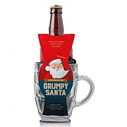 Cottage Delight Grumpy Santa with Glass Tankard