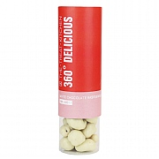 360° White Chocolate Raspberries Tube - 160g
