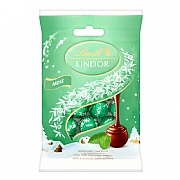 Lindt Lindor Mint Mini Truffles Bag 100g