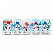 Lindt Milk Chocolate Snowman 5 Pack 50g