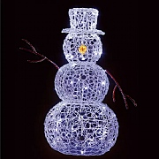 90cm White LED Soft Acrylic Snowman (80 LEDs)