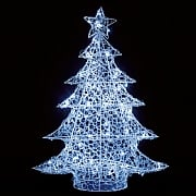 1m Cool White LED Soft Acrylic Christmas Tree