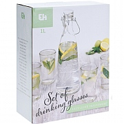 5-Piece Glass Tumbler & Carafe Set