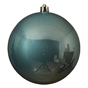 Decoris Arctic Blue Shatterproof Bauble 14cm