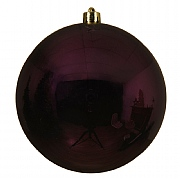 Decoris Royal Purple Shatterproof Bauble 14cm