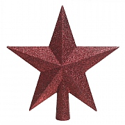 Decoris Oxblood Tree Top Glitter Star