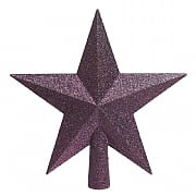 Decoris Royal Purple Tree Top Glitter Star