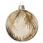 Decoris Transparent Gold Leaf Bauble 8cm