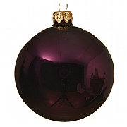 Decoris Royal Purple Plain Enamel Bauble 10cm