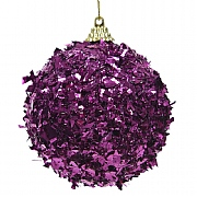 Decoris Royal Purple Foam Bauble with Foil 8cm