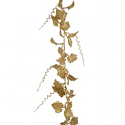 Decoris Light Gold Leaf Garland with Glitter