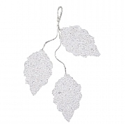 Decoris White Acrylic Hanging Leaf Decoration