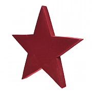 Decoris Red Flocked Star