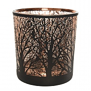 Decoris Woodland Laser T-Lite Holder Small