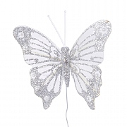 Decoris Decorative Pearl Butterfly (Pack of 4)