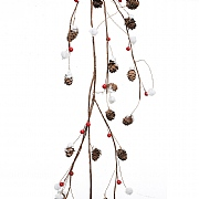Decoris Pinecone Garland with Berries