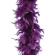 Decoris Royal Purple Feather Boa Garland