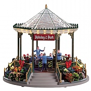 Lemax Holiday Garden Green Bandstand