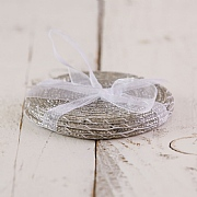 Silver Beaded Coasters (Set of 4)