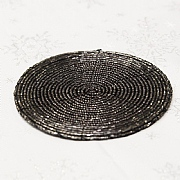 Charcoal Beaded Coasters (Set of 4)