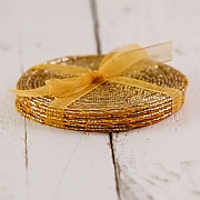 Gold Beaded Coasters (Set of 4)