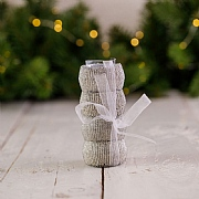 Silver Beaded Napkin Rings (Set of 4)
