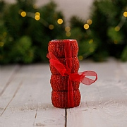 Red Beaded Napkin Rings (Set of 4)