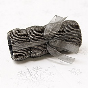 Charcoal Beaded Napkin Rings (Set of 4)