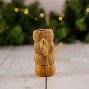 Gold Beaded Napkin Rings (Set of 4)