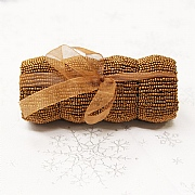 Copper Beaded Napkin Rings (Set of 4)