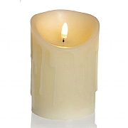 Premier Flickabright 13cm LED Dancing Flame Melted Edge Candle