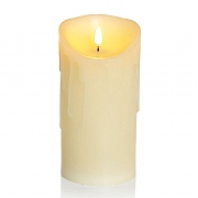 Premier Flickabright 18cm LED Dancing Flame Melted Edge Candle