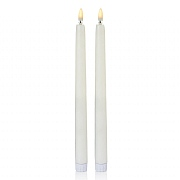 Premier Flickabright LED Taper Candle - Pack of 2