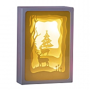 Forest Glade Scene LED Paper Diorama