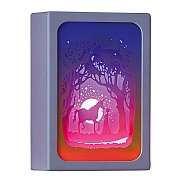 Unicorn Scene LED Paper Diorama