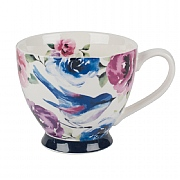 Portobello Sandringham Faye Polka Teal Bone China Mug