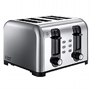 Russell Hobbs Canterbury 4 Slice Wide Slot Toaster - Stainless Steel