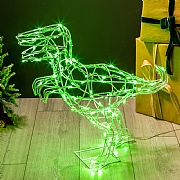 100 Green LED Wire Standing Dinosaur