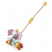 Orange Tree Dumbo Push Along Toy
