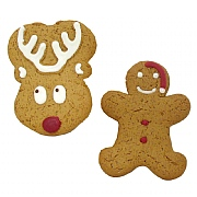 Iced Gingerbread Reindeer & Santa Man 45g (Assorted Designs)