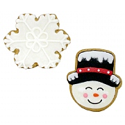 Iced Gingerbread Snowman & Snowflake 60g (Assorted Designs)